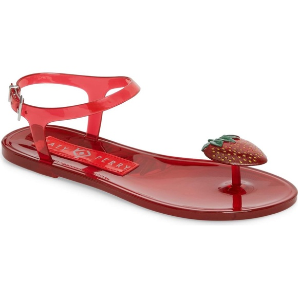 Katy Perry Shoes | Strawberry Smell Jelly Sandal | Poshmark Katy Perry Shoes
